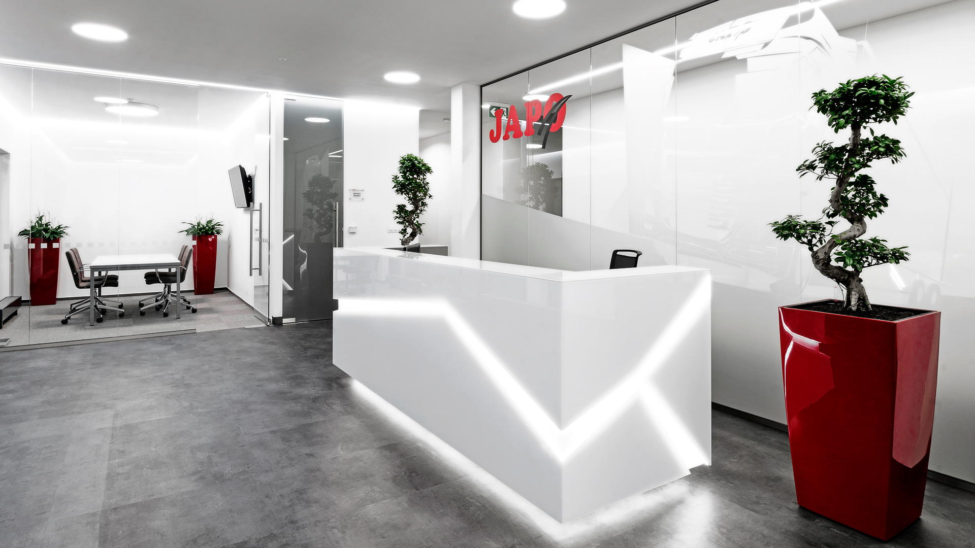 Architektura - interiér, recepce