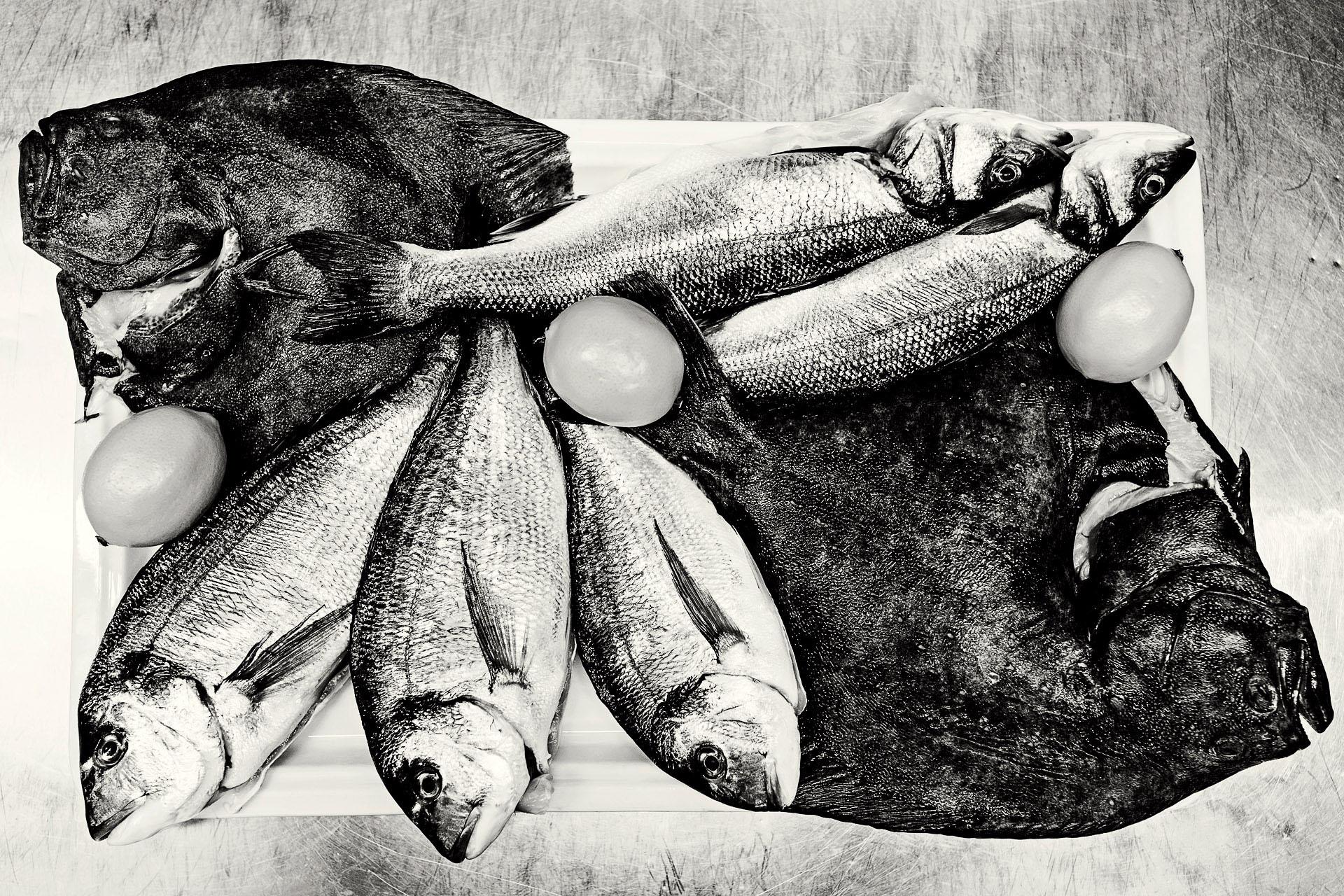 Focení jídla ryby na stole-Grandezza restaurant